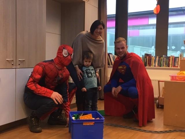Glazenwassers Superman en Spiderman VKC